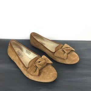 Ugg alloway bow loafer slipper flats